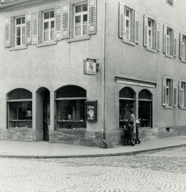 Altes Foto von dem Schmuckgeschäft